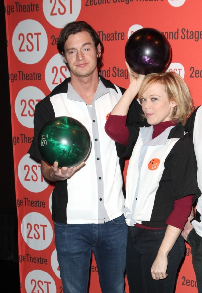 Benjamin Walker, Emily Bergl at Bill Pullman, Rebecca Naomi Jones & More at Second Stage's  Bowling Classic- Part Two