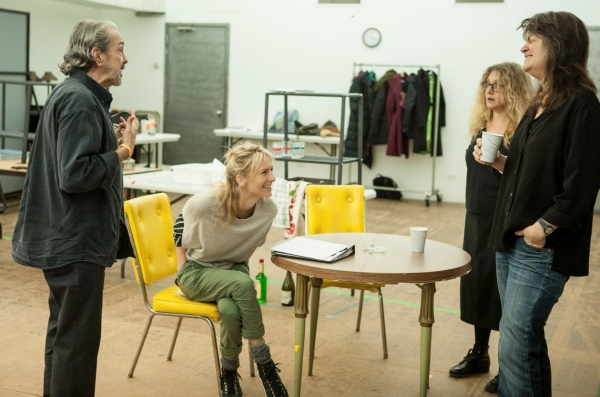 Craig Lucas, Mickey Sumner, Carol Kane, Pam MacKinnon at In Rehearsal with Carol Kane, Pam MacKinnon and the Cast of THE LYING LESSON
