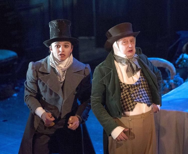 High Res Taylor Jay-Davies (Young Pip) and Brian Pettifer (Wemmick)