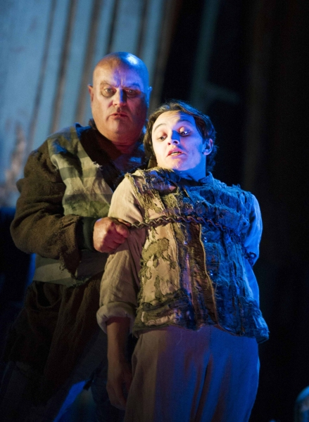 Chris Ellison (Magwitch), Taylor Jay-Davies (Young Pip) Photo