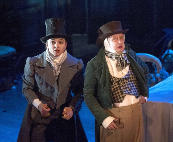 Taylor Jay-Davies (Young Pip) and Brian Pettifer (Wemmick)