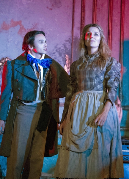 Taylor Jay-Davies (Young Pip) and Suzanne Robertson (Biddy)