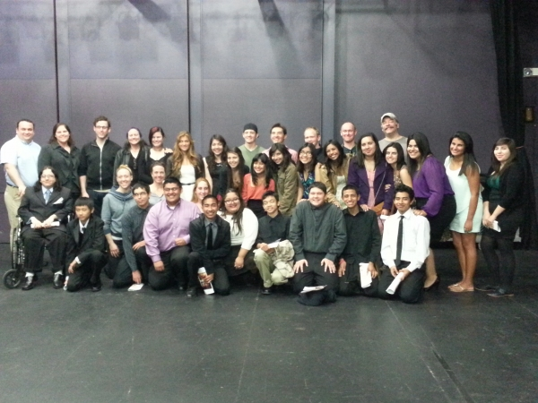 Photo Flash: Los Amigos High School Visits Cast of WAR HORSE at Segerstrom Center