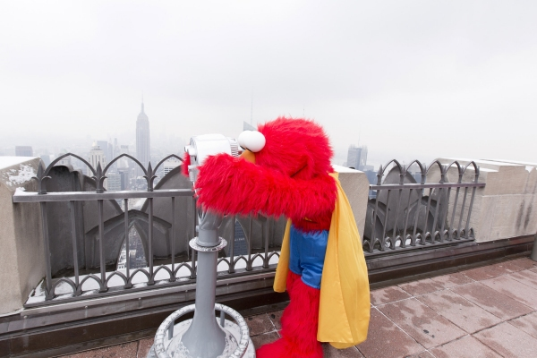 Photo Flash: SESAME STREET's Super Grover and FAB 5 Visit Rockefeller Center's Top of the Rock