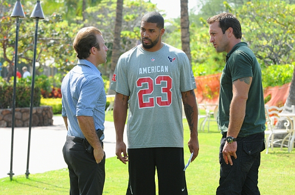 Scott Caan,Arian Foster, Alex O'Loughlin