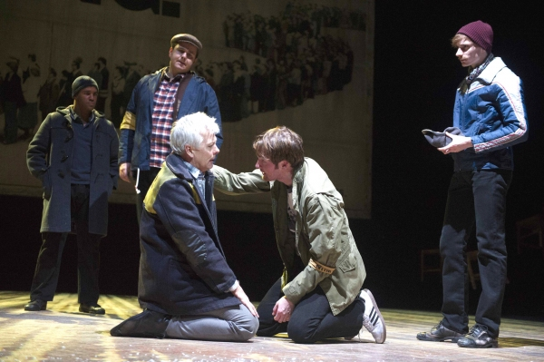 Deka Walmsley (Dad) and Killian Donnelly (Tony) and cast