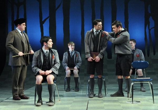 Melchior (Matthew Kacergis) stands up for Moritz (Parker Drown).