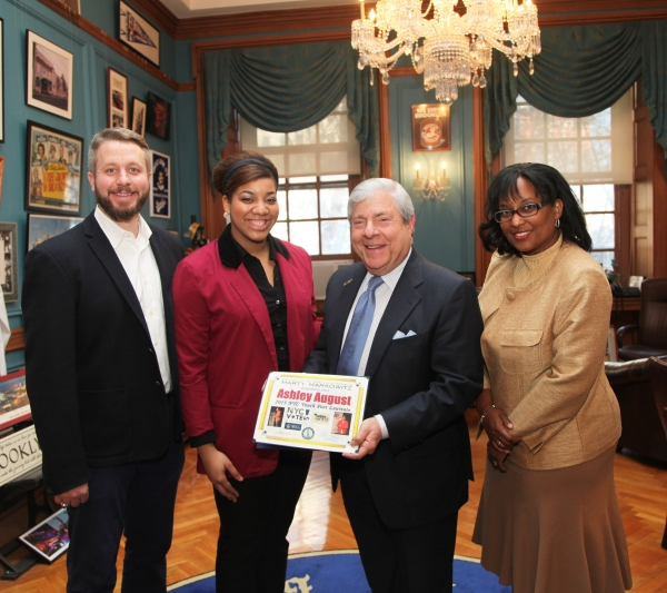 Photo Flash: BP Markowitz Welcomes NYC Youth Poet Laureate Ashley August to Borough Hall