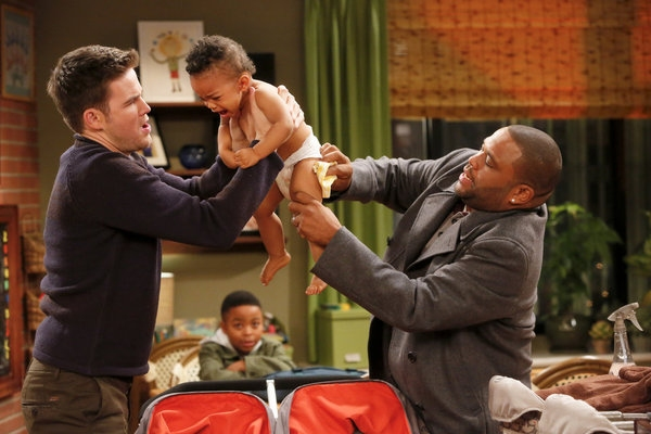 Zach Cregger, Anthony Anderson at GUYS WITH KIDS' 'Rare Breed'