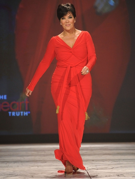 Kris Jenner in Badgley Mischka (Photo by Getty Images for Heart Truth)