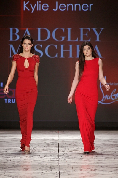 Kendall and Kylie Jenner in Badgley Mischka (Photo by Dan & Corina Lecca)
