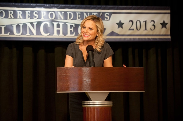 Amy Poehler at PARKS AND RECREATIONS' 'Correspondent's Lunch'