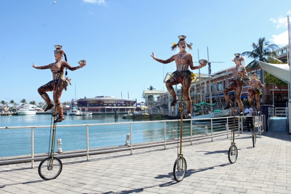 Photo Flash: Cast of Cirque du Soleil's TOTEM Surprises Bayside Market Place Crowds