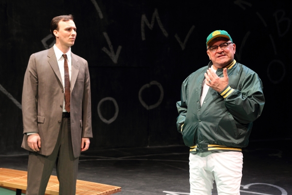 Jarred Baugh as Michael McCormick and Edward Furs as Vince Lombardi