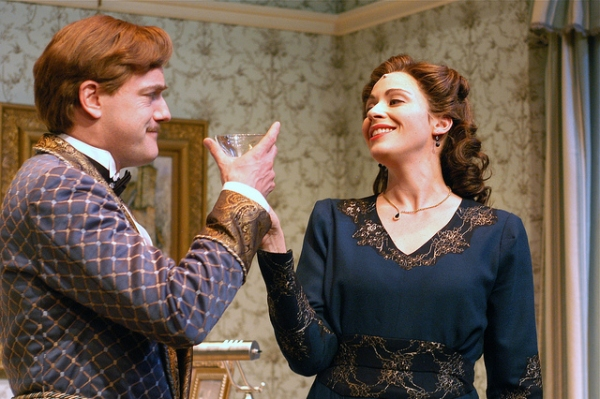 Pictured: Steven Cole Hughes (Charles) and Kate Berry (Ruth)