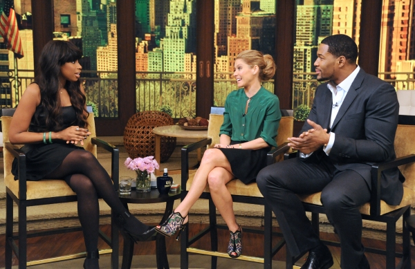 JENNIFER HUDSON, KELLY RIPA, MICHAEL STRAHAN at Jennifer Hudson Guests on This Morning's LIVE WITH KELLY & MICHAEL
