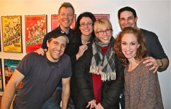 Sandy Duncan and FORBIDDEN BROADWAY Cast
