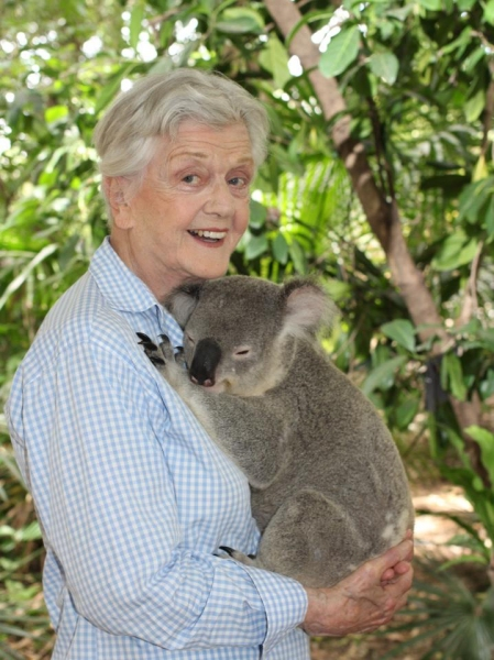 Photo Flash: Angela Lansbury Makes a Koala Friend Down Under