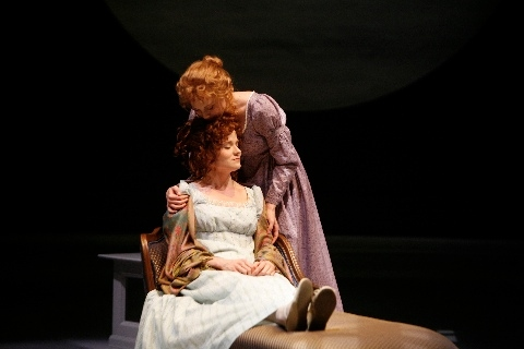 Nancy Lemenager as Elinor and Amelia McClain as Marianne Photo