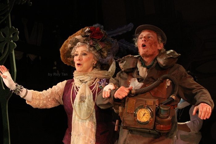 High Res  Betty Buckley as The Countess Aurelia and Paul Nicholas as The Sewerman