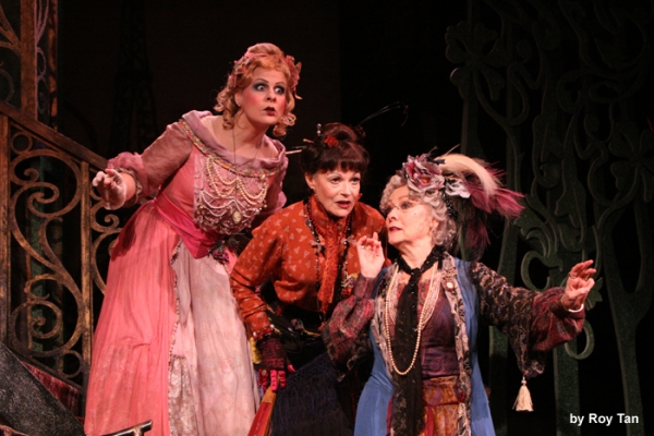 Rebecca Lock as Gabrielle, Betty Buckley as The Countess Aurelia and Annabel Leventon as Constance