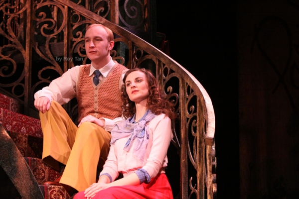 Stuart Matthew Price as Julian and Kathy Treharne as Nina