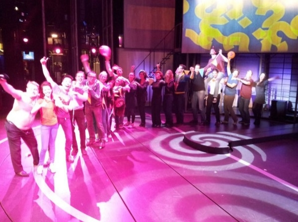 Photo Flash: Saturday Intermission Pics, Feb 9 - Broadway Snowman, ANNIE's Entourage, HAIR Does MOTOWN and More!