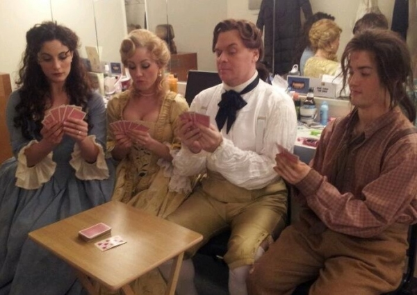 Photo Flash: Saturday Intermission Pics, Feb 9, Part 2 - CINDERELLA's Greg Hildreth & Santino Fontana, THE LION KING's Knitting Club and More!