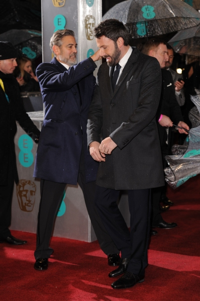 Photo Coverage: More From The BAFTA Red Carpet - Clooney, Affleck, Barks And More!