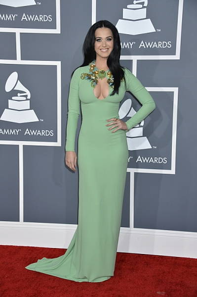 Katy Perry on the red carpet at THE 55TH ANNUAL GRAMMY AWARDSÃ�'ï�¿½Ã'ï�¿½Ã�'ï�¿½Ã'Â�®.  The music industry's premier event will take place Sunday, Feb. 10 (8:00-11:30 PM, live ET/delayed PT), at STAPLES Center in Los Angeles, on the CBS Te at Timberlake, Rihanna & More at 55th ANNUAL GRAMMY AWARDS