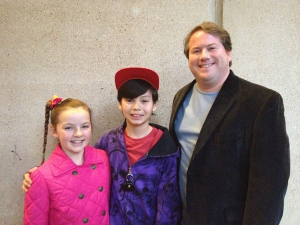 Carter Sayle of Stage Door Designs with Sam Poon and Maria Knasel