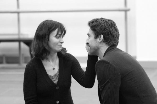 Maggie Siff (Beatrice) and Jonathan Cake (Benedick)