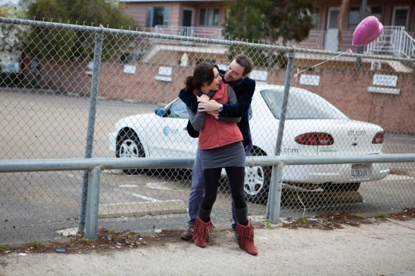 Laura Kaplan-Nieto (Alex) and Michael Nieto (Chris) share a sweet moment before they say goodbye.