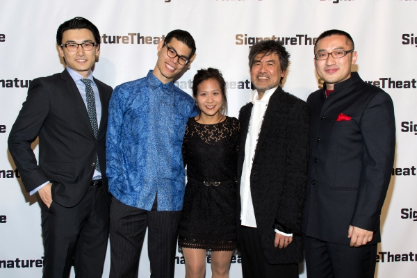 Yueken Wu, Ruy Iskandar, May Adrales, David Henry Hwang, Huang Rao at Signature Theatre Gala Celebrates David Henry Hwang!