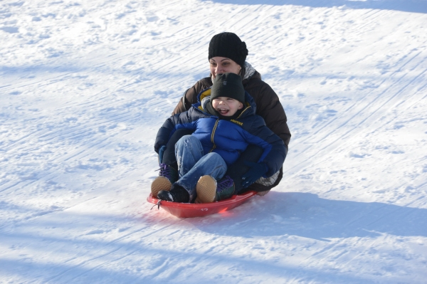 Photo Flash: Snow Day Fun at Crotona Park in the Bronx