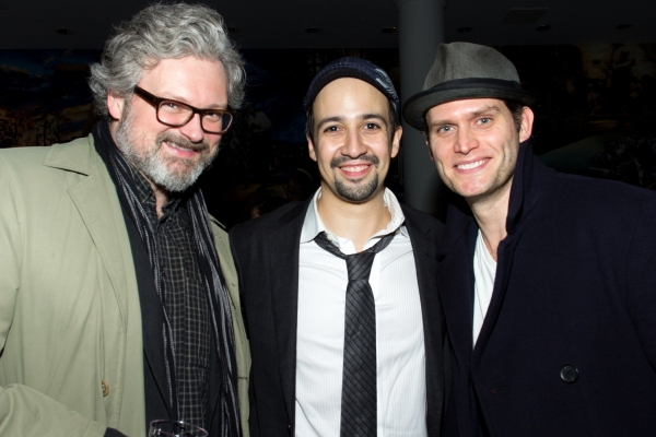 John Ellison Conlee, Lin-Manuel Miranda, Steven Pasquale at Inside the IN THE HEIGHTS Concert After Party with Lin-Manuel Miranda, Karen Olivo & More!