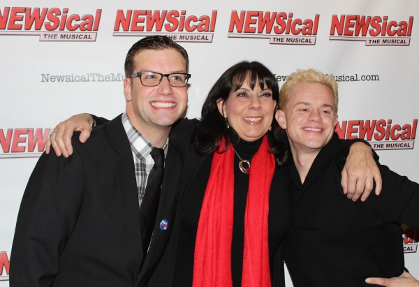 Tom D'Angora, Christine Pedi, and Michael D'Angora at Carson Kressley Joins Cast of NEWSICAL!