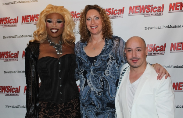 Peppermint, Judy Gold, and Karl Giant at Carson Kressley Joins Cast of NEWSICAL!