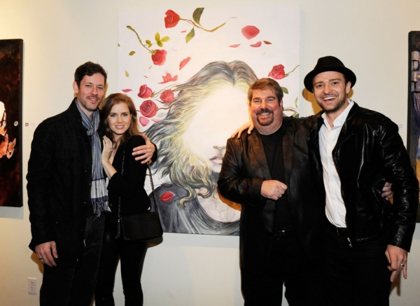 Photo Flash: Trigg Ison Fine Art, Amy Adams and Justin Timberlake Present  Darren Le Gallo Exhibition in Hollywood