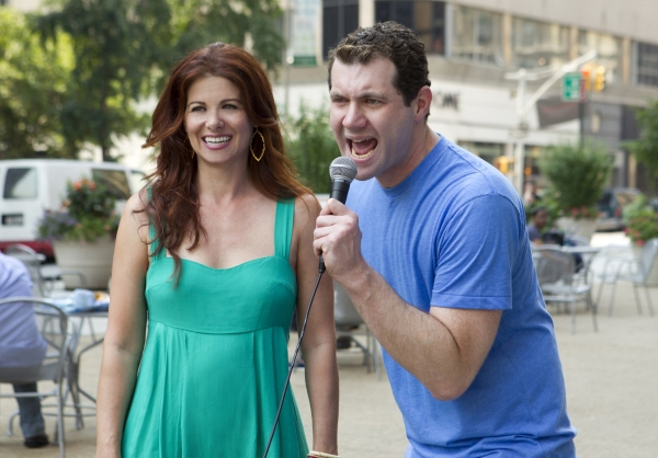 Photo Flash: SMASH's Debra Messing and Christian Borle on Funny or Die's BILLY ON THE STREET