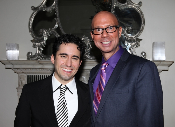 Richard Ridge with John Lloyd Young  at John Lloyd Young Brings MY TURN to Cafe Carlyle