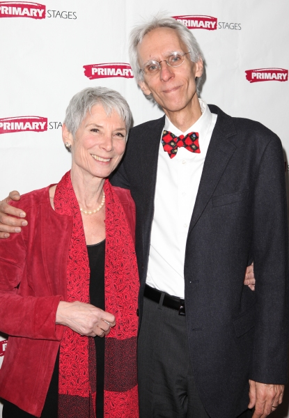 Martha Ives & David Ives  at Inside ALL IN THE TIMING's Opening Night!
