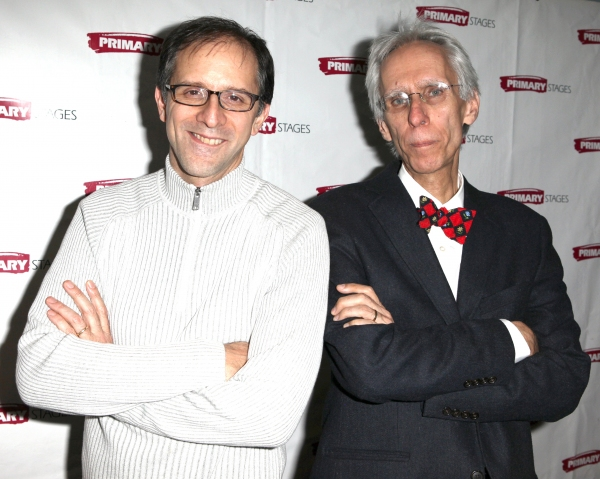 John Rando & David Ives  at Inside ALL IN THE TIMING's Opening Night!