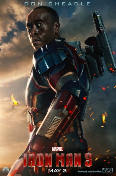 Photo Flash - First Look - Don Cheadle Featured in IRON MAN 3 Character Poster