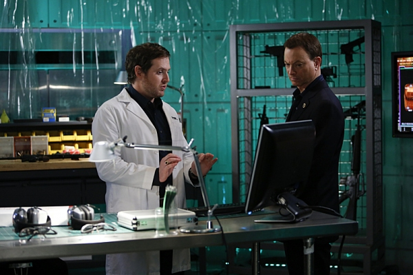 A.J. Buckley, Gary Sinise at First Look at Josh Groban on CSI: NY