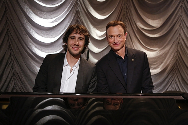 Josh Groban, Gary Sinise at First Look at Josh Groban on CSI: NY