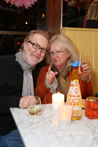 "From left, actors Harry Groener and Dawn Didawick pose during a reception for New York's Rattlestick Playwrights Theater to celebrate its upcoming Los Angeles production of Daniel Talbott's ""Slipping"" held at the Beachwood Cafe on Tuesday, February 12,"