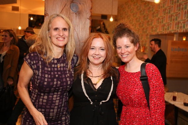 "From left, cast member/producer Wendy vanden Heuvel, O-Lan Jones and Megan Breen pose during a reception for New York's Rattlestick Playwrights Theater to celebrate its upcoming Los Angeles production of Daniel Talbott's ""Slipping"" held at the Beachwood"