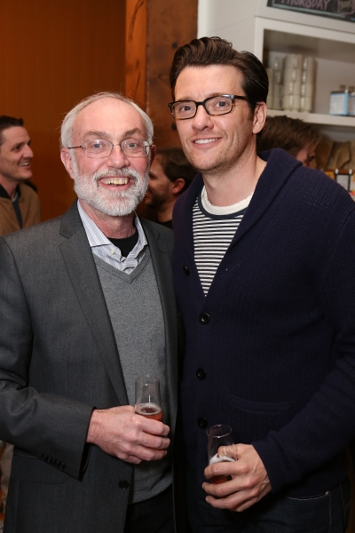 "From left, David Van Asselt, Rattlestick Artistic Director and Jason Butler Harner pose during a reception for New York's Rattlestick Playwrights Theater to celebrate its upcoming Los Angeles production of Daniel Talbott's ""Slipping"" held at the Beachwo"