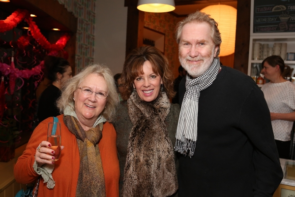 "From left, actress Dawn Didawick, Jeanie Hackett, Creative Consultant and actor Harry Goener pose during a reception for New York's Rattlestick Playwrights Theater to celebrate its upcoming Los Angeles production of Daniel Talbott's ""Slipping"" held at t"